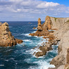 """The spectacular Costa Quebrada (Broken Coast) north of Liencres east to Santander is well worth a visit, both for naturalists and photographers! It is one of few places in Europe where a layered sedimentary type of rock called """"flysch"""" surfaces. <br /> Photo taken near La Venta del Mar (Cantábria, Spain) on 29 June, 2011."""