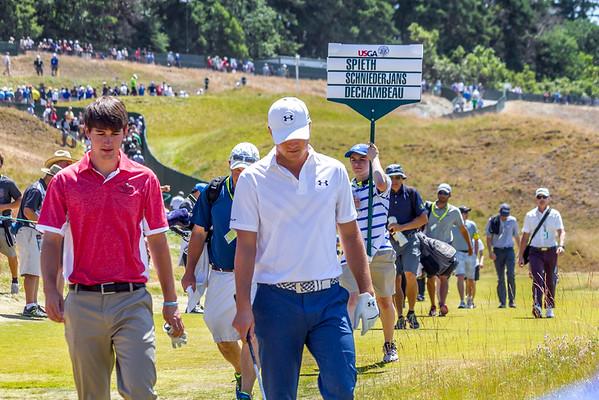Champion Jordan Spieth Wins 115th US OPEN Golf  at Chambers Bay in University Place WA