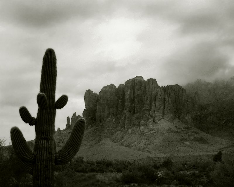 Superstition Mountains, Lost Dutchman State Park, Arizona<br /> <br /> Recommended sizes: 4 x 5, 8 x 10, 16 x 20