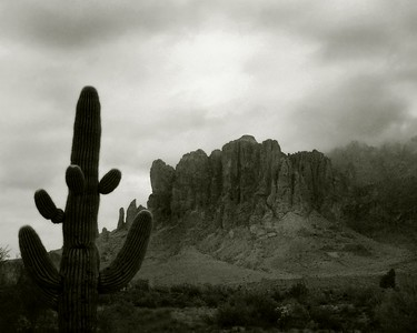 Superstition Mountains, Lost Dutchman State Park, Arizona  Recommended sizes: 4 x 5, 8 x 10, 16 x 20