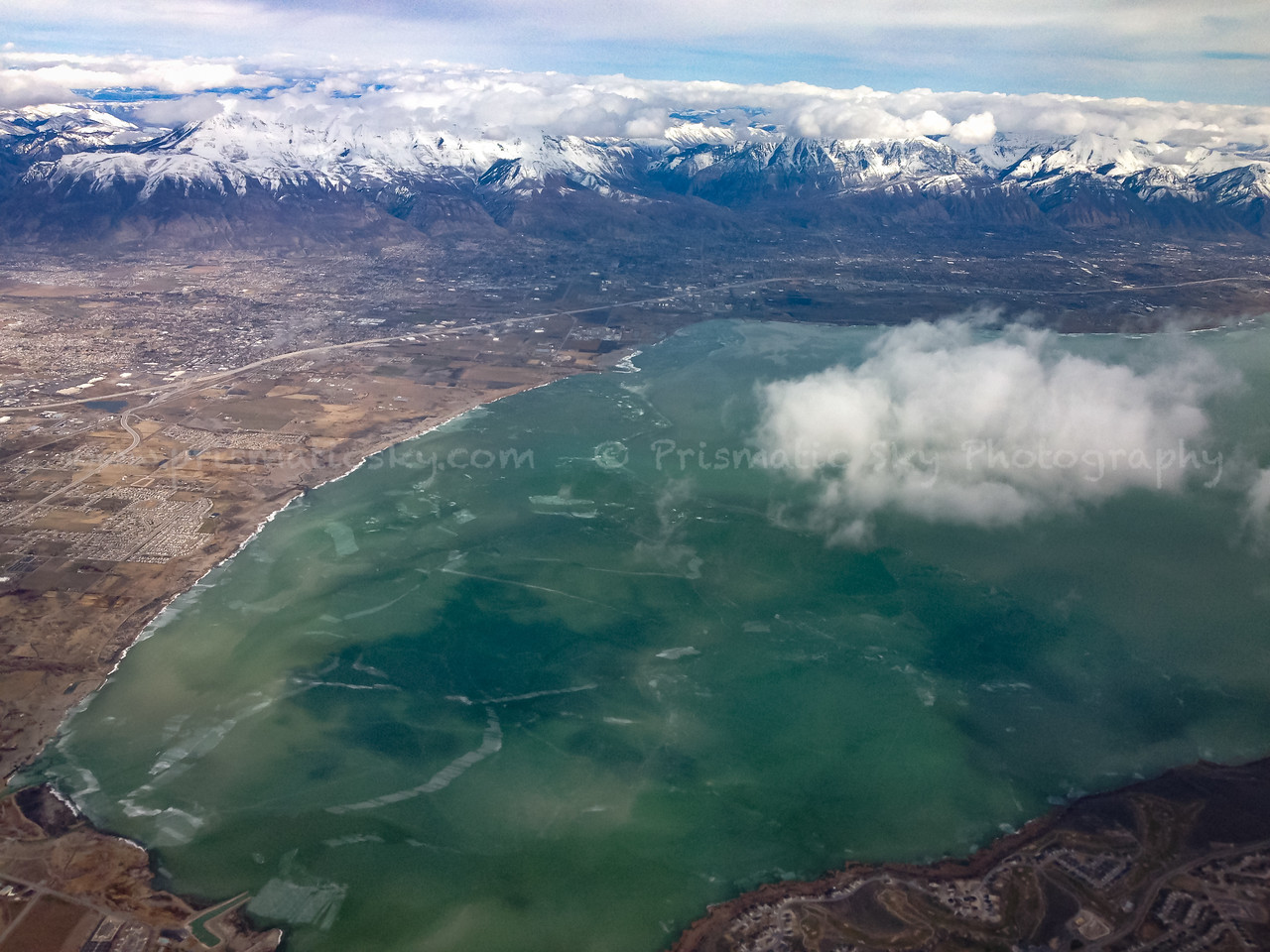 Frozen Utah Lake