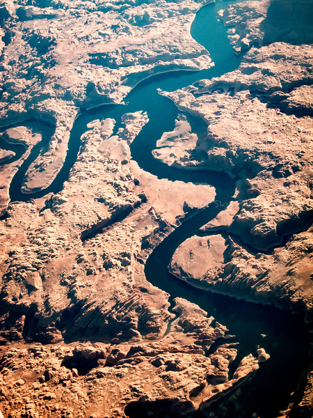 San Juan and Colorado rivers near Reflection Canyon