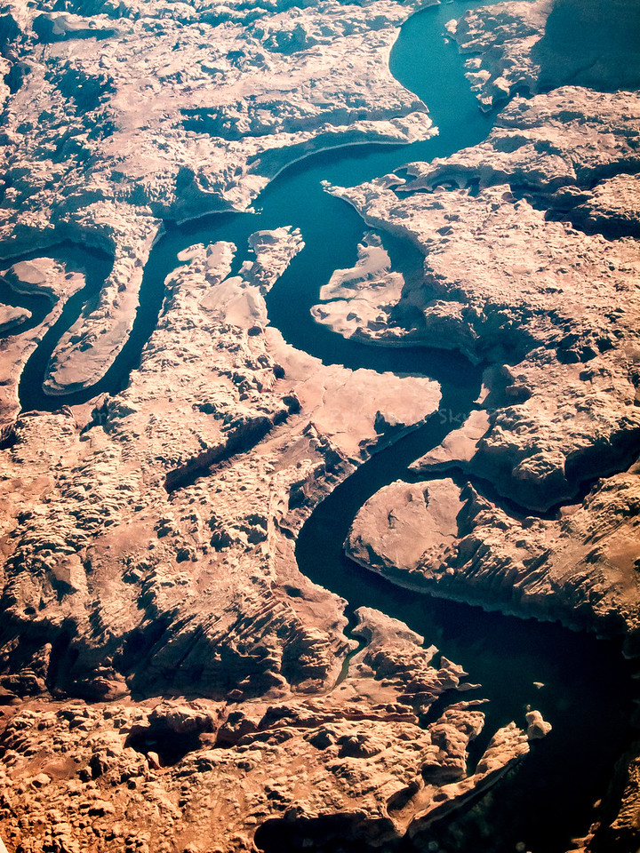 San Juan and Colorado rivers near Reflection Canyon
