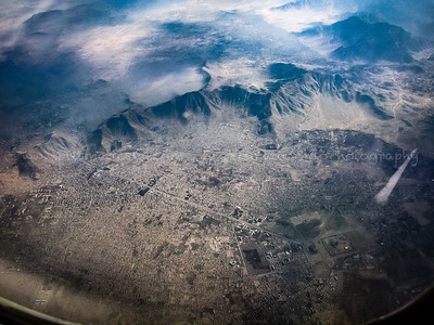 Southwestern Kabul with Darul Aman Palace