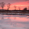 Red Sunrise in Winter