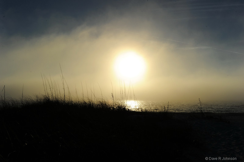 Sunset Through a Gulf Coast Sea Fog Bank, Anna Maria Island, FL