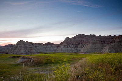 Badlands Sunset - July 11th 2009