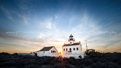 Lighthouse sunburst