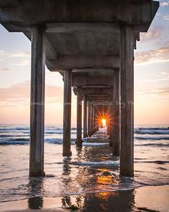 Pier sunburst