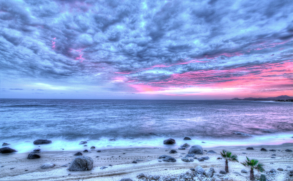 Stormy dawn over Sea of Cortez at Los Barriles