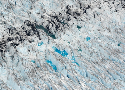 glacier from above