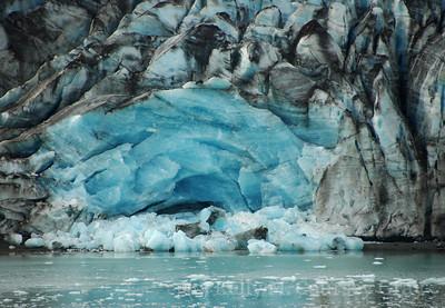 L glacier after calving blue