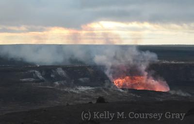 kilauea crater sunrise 1