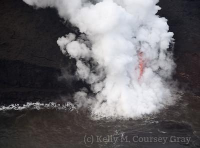 Lava flow into ocean 4