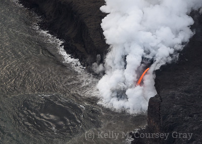 Lava flow into ocean 5