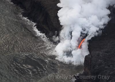 Lava flow into ocean 5