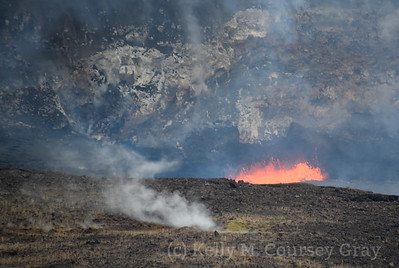 Lava in the crater 1