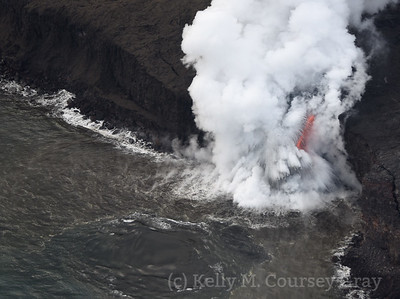 Lava flow into ocean 2