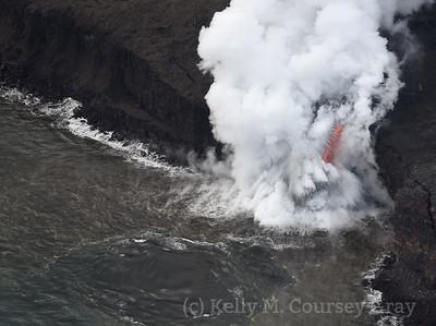 Lava flow into ocean 2