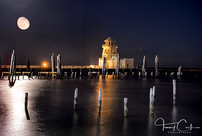 Moonrise Over Biloxi