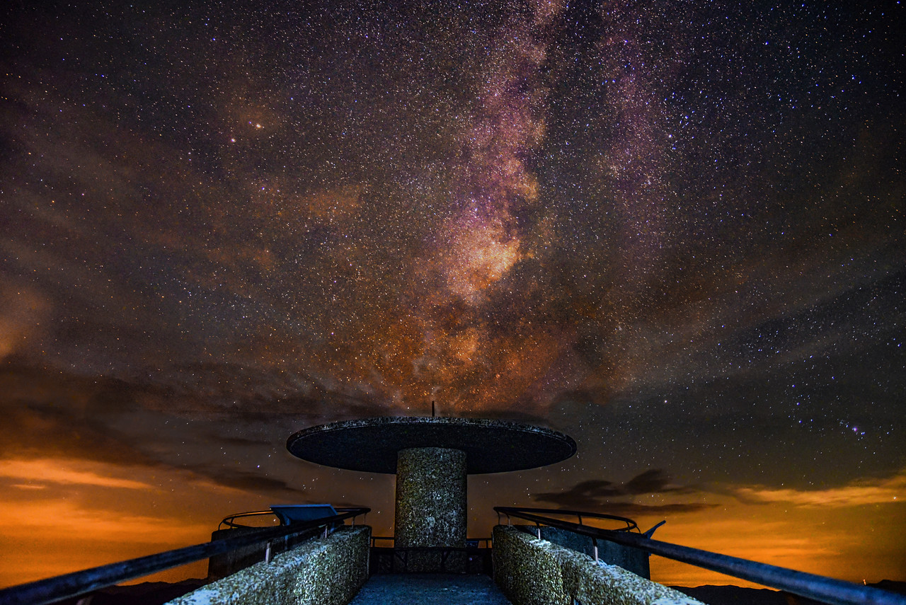 Milkey way over Clingmans Dome