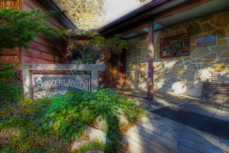 Entrance to BoxerWood Gardens.