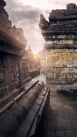 Walking Borobudur