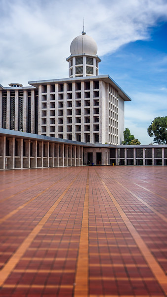 Istiqlal Mosque Courtyard