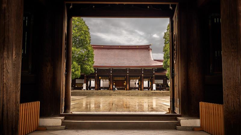 Meiji Shrine Courtyard