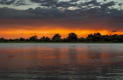 Dusk on a pantanal river