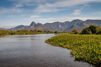 Amolar mountains and Cuiaba River, matogrossense national park, Pantanal, Brazil.