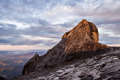 St. John Peak (4091 m). Seen from the summit of Mount Kinabalu, Borneo (4095m)