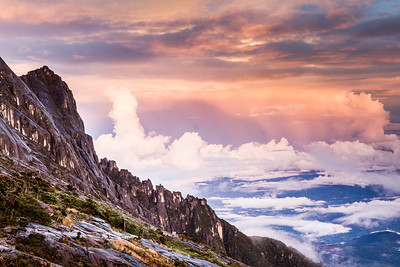 View from Sayat-Sayat checkpoint (3810m) close to the summit of Mount Kinabalu, Borneo