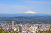 Mt Hood towers over Portland Oregon