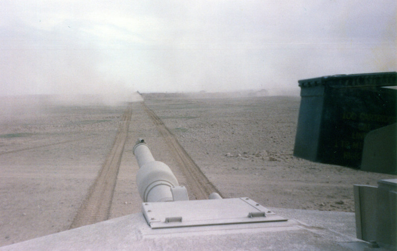 View from loaders hatch M1 tank Desert Storm