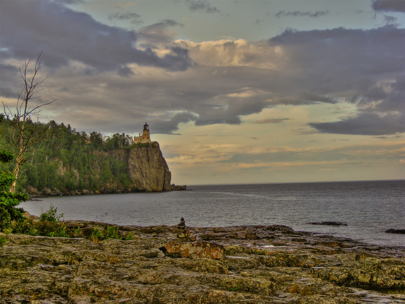Split Rock Lighthouse along the North Shore of Lake Superior.