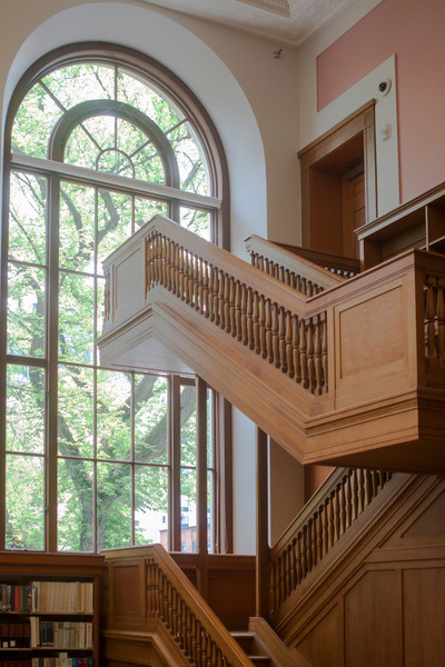 Stairs inside the Multnomah County Library