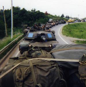Tank company column