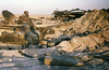 Destroyed T72 tank Desert Storm