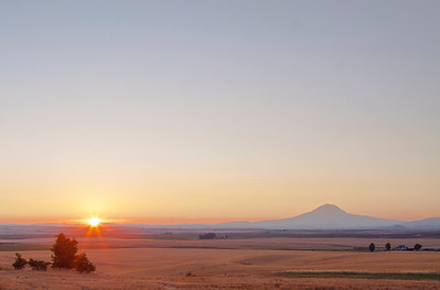 Goldendale sunset - Mt. Adams