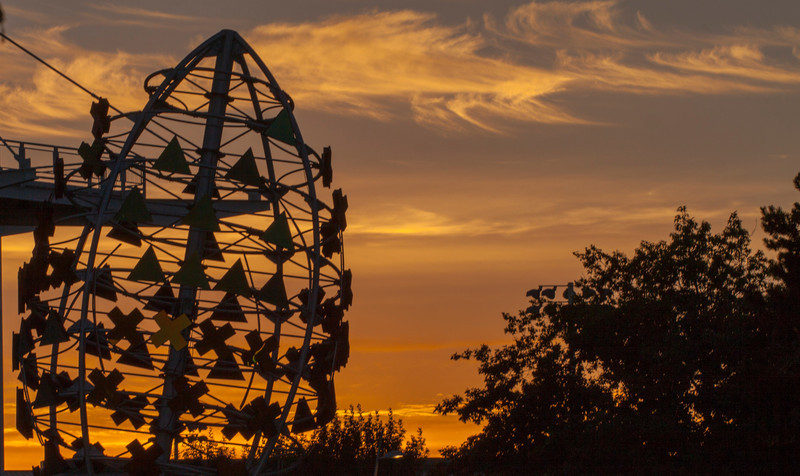 Reser Stadium sunset