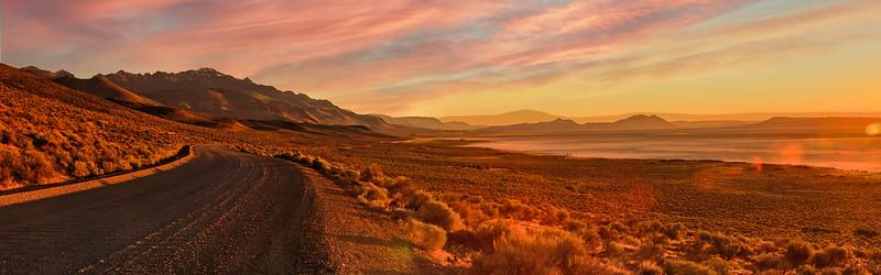 Road to sunrise, Alvord Desert