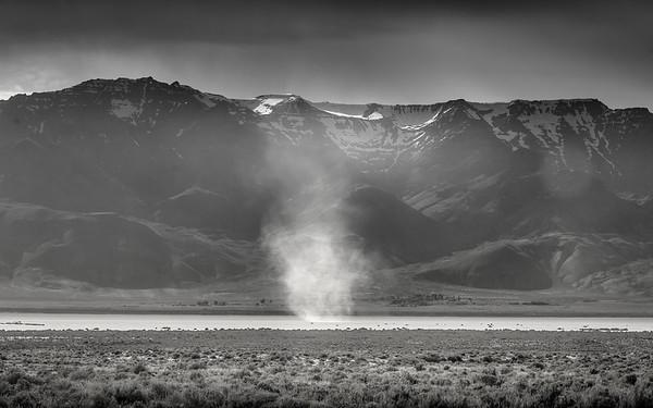 Alvord desert misty sand