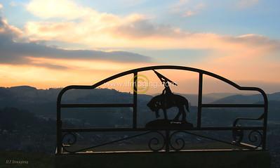 (B009) Sunset Over Hawick