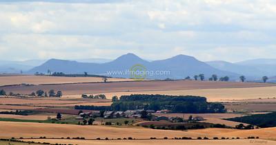 (B017) Eildon Hills from Branxton Hill