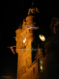 (B020) Hawick Town Hall by Night
