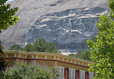 "This is the carving of Robert E. Lee, Jefferson Davis and Thomas ""Stonewall"" Jackson into the side of the mountain. The figures are nine stories tall and the carved out section covers three acres. It also has a spectacular laser light show in the evening that should NOT be missed."