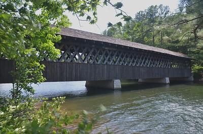 Old single lane wooden bridge at Stone Mountain, Georgia