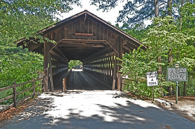Old single lane wooden bridge at Stone Mountain, Georgia