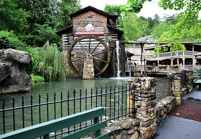 Grist Mill at Dollywood theme Park in Pigeon Forge,Tn.